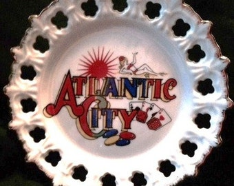Atlantic City souvenir plate