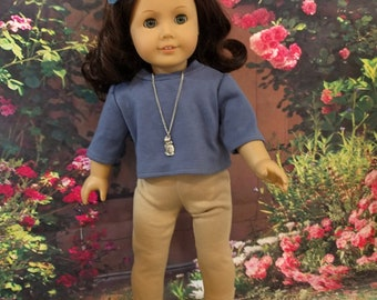 Casual knit outfit for 18 inch dolls