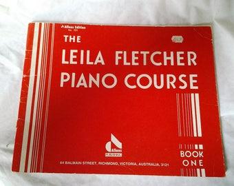 The Leila Fletcher Piano Course - Book One - Music Book - 1950's