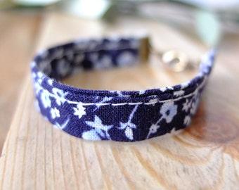 Fabric - Obleu flowers gift bracelet mothers day