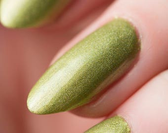 Behemoth Nail Lacquer - Holographic Lime Green - Tips from the Wasteland - .45oz/13.2mL
