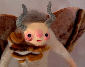 Lepido - OOAK Art Doll - Needle felted - Creature