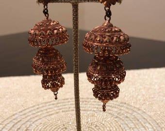"Pure copper ""Jhumka"" earrings"