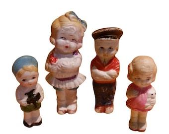 Porcelain Ceramic Doll Figures Made in Japan