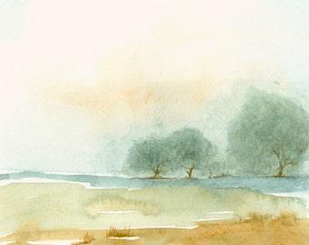 Landscape Fine Art Print from Original Watercolor