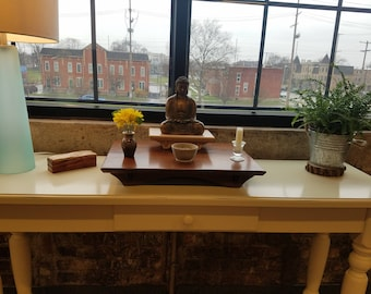 Buddhist Altar with your choice of 3 different wood species. 21L x 14 5/8d x 3h