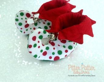 Elf Baby Booties - Baby's 1st Christmas - Christmas Elf - Baby Elf Outfit - Baby Accessories - Baby Elf Photo Prop - Toddler Elf Costume