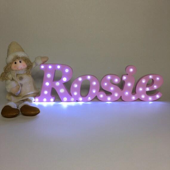 Light Up Letter Light Up Name Birthday Gifts Girls Name