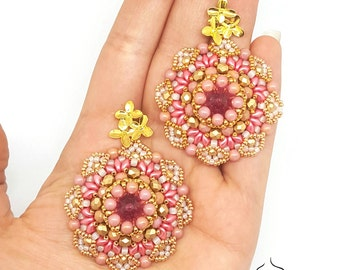 Earrings Sakura- beading pattern
