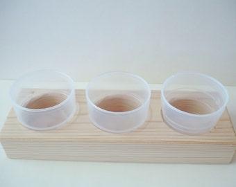 En bois organisateur de contenants pour vos fournitures d'artisanat, perles, pièces de mosaïque, boutons, pinces à P - 3 tasse StorageTray