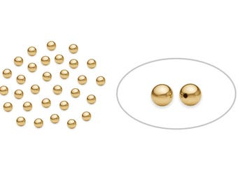 50 Pcs 2.5 mm 14K Gold Filled Round Beads (GF52010250) Seamless