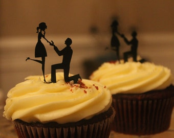 Engagement Cupcake Topper - Mary