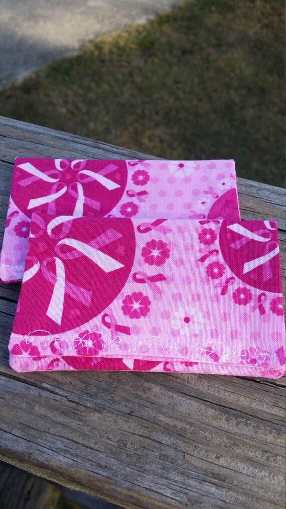 Breast Cancer Awareness Gift Card Holder/ Gift Money Holder/Breast Cancer Awareness Gift card Wallet / Fabric Envelope/ Earbuds Holder