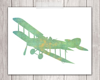 Airplane Nursery Decor - 8x10 Boy Nursery, Nursery Planes, Nursery Decor, Airplane Prints, Printable Nursery Art