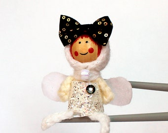Fashion fairy MochiQtie Amigurumi - Mochi size crochet mini toy doll - Crochet Amigurumi