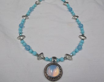 Hand made one of a kind Necklace w/ opalite