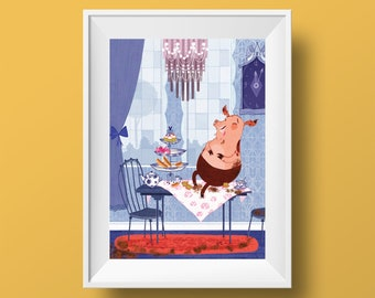 A Pig in Paris - A4 Print