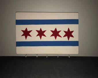 Chicago Flag Key Rack