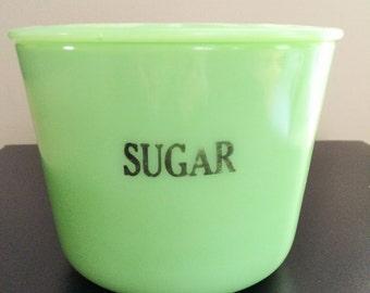 Jadite/Jadeite McKee Large Sugar Canister