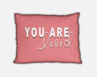 You are so Loved Pillow. Nursery Decor. Playroom Decor. Baby Pillow. Pillows with Sayings. Gift for Boy. Gift for Girl. Birthday Gift