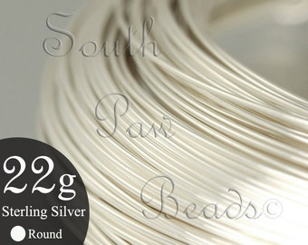 15.5 feet Sterling Silver Wire 22 gauge wire for wire wrapping jewelry making, Round wire 1/2 troy oz, you pick the temper