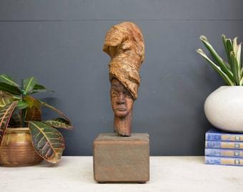 Artisan Wood Carved Sculpture