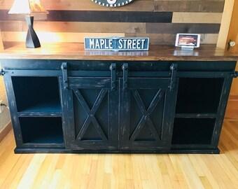 Barn Door TV Stand (Free Shipping)