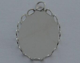 10 supports wave pendants 18 / 25mm Platinum color