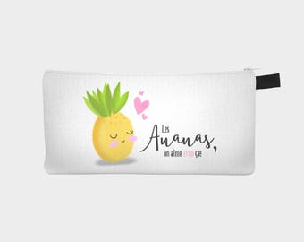 "Chest pencil - makeup cover ""Miss pineapple"" (Pencil case)"