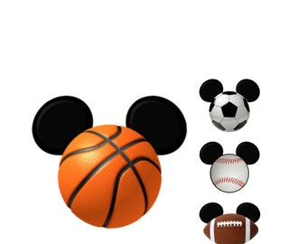 soccer disney ears etsy rh etsy com Mickey Mouse Ears Template Disney Clip Art