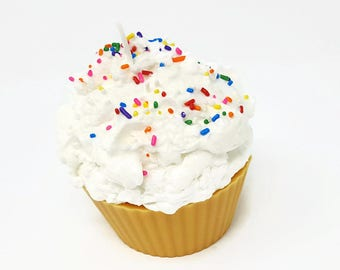 Jumbo Cupcake Candle with Sprinkles