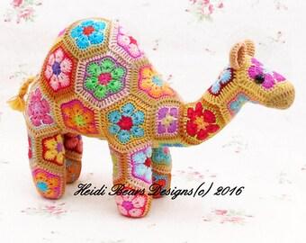 Gobi the African Flower Camel Crochet Pattern