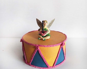 Tinkerbell Inspired Fairy Cake Topper  & Candle Holder