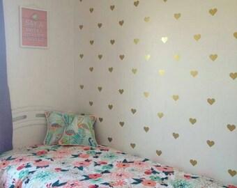 Heart decals, heart wall decals, wall decals, girl bedroom wall decals, nursery wall decals, baby girl nursery decor, daughter bedroom decor