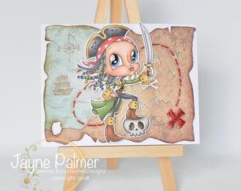 handmade greeting card, Ahoy Matey!
