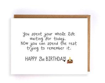 Funny happy birthday card funny birthday greeting cards for 21st birthday gift for her greeting card gift ideas funny greeting cards cute handmade greeting cards for her gift for him gc70 m4hsunfo