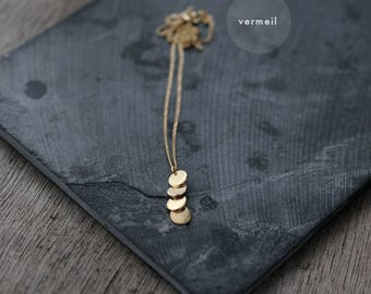 Dainty Cascading Sequins Galore silver or vermeil necklace