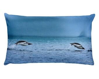 Penguin Pillow - Porpoising Gentoos