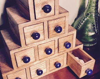 Ten Drawer Wooden Chest