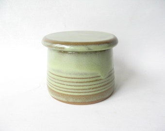 French Butter Dish, French Butter Keeper, Stoneware Butter Dish