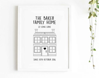 Personalised Our Home Print - Eddie and The Giant Peach