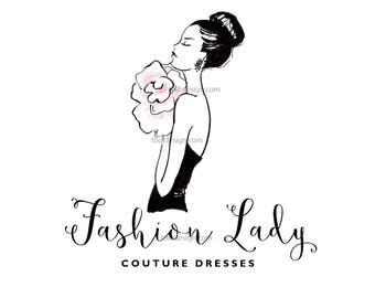 Fashion Lady Couture Character Illustrated OOAK Logo design- Fashion Boutique- Event Dressing-Fashion BLOGGER