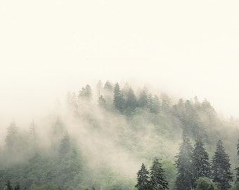 landscape photography, mountain photography, mountains, Appalachia, smoky mountains,  mountain print, evergreens, pastel, green,