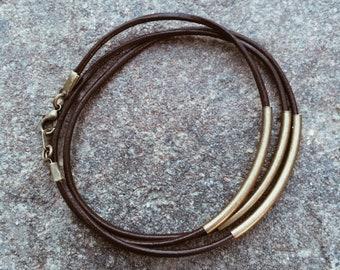Bronze Noodle Bracelet