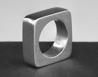 Silver Argentium Sterling Ring, Aussie (1)