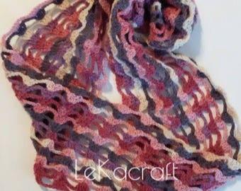 Crochet multicolor snood