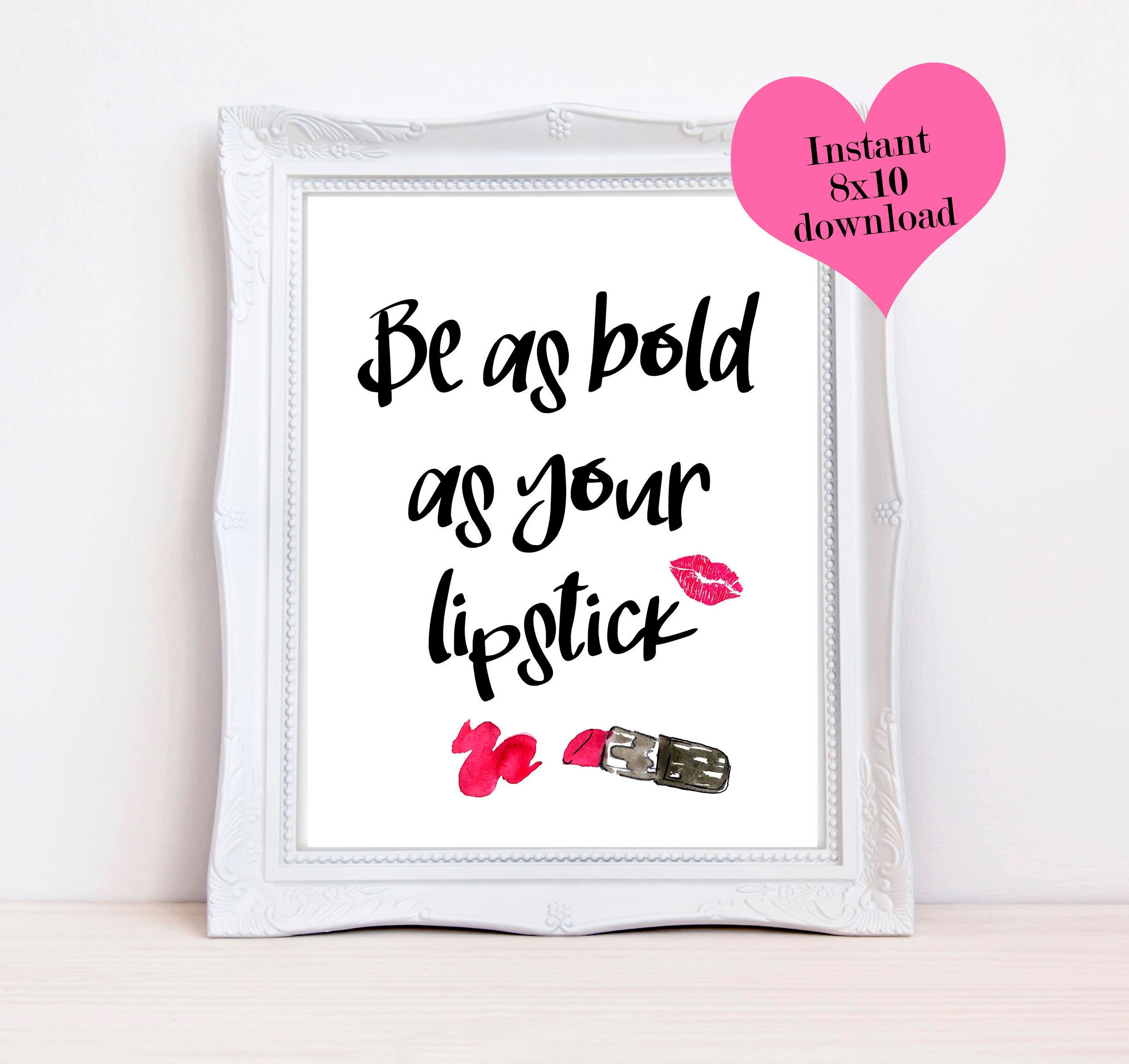 Lipstick Quotes Be As Bold As Your Lipstick Desk Accessories For Women Glam