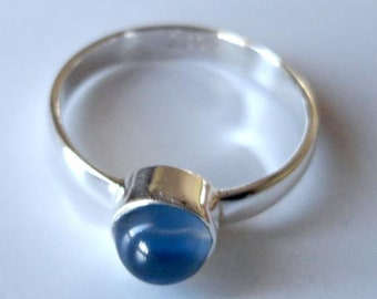Chalcedony Jewelry,925 Solid Sterling Silver, Ring US Size-7.00, Chalcedony Gemstone Jewellery #10142