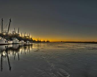 Shrimp Boats at Dawn