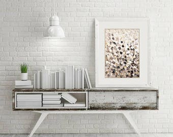Original Abstract Painting, Abstract Wall Art, Taupe Decor, Brown Abstract Art, Dotted Art, Original Art Australian Art Small Painting